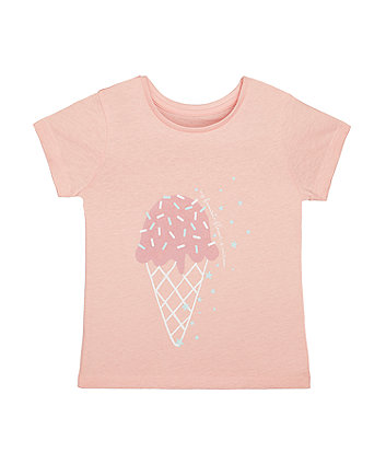 Mothercare Pink Ice Cream T-Shirt