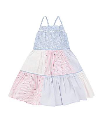 Mothercare Tiered Patchwork Maxi Dress