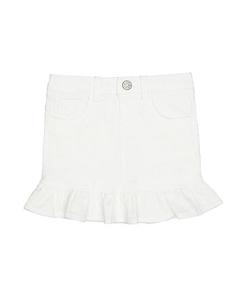 Mothercare White Denim Skirt