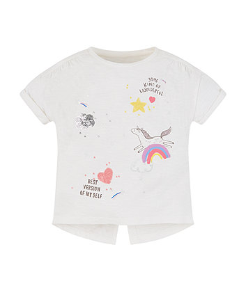 Mothercare Rainbow, Star And Cloud Graphics T-Shirt