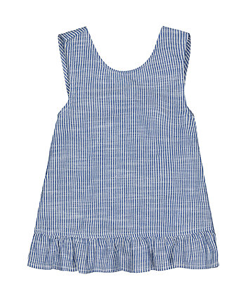 Mothercare Blue Striped Crossover Blouse