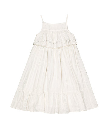 Mothercare White Crêpe Maxi Dress