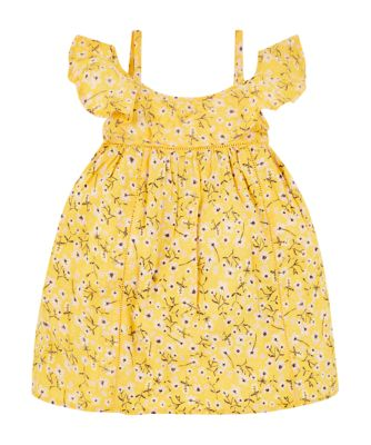 Mothercare Ibiza Flower Yellow Floral Bardot Dress