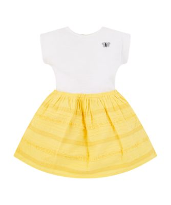 Mothercare Ibiza Flower Yellow Broderie Applique Dress