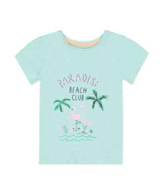 Mothercare Dolce Vita Blue Flamingo Short Sleeve T-Shirt