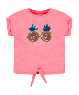 Mothercare Dolce Vita Pink Pineapple Short Sleeve T-Shirt