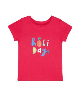 Mothercare Dolce Vita Pink Holiday Short Sleeve T-Shirt