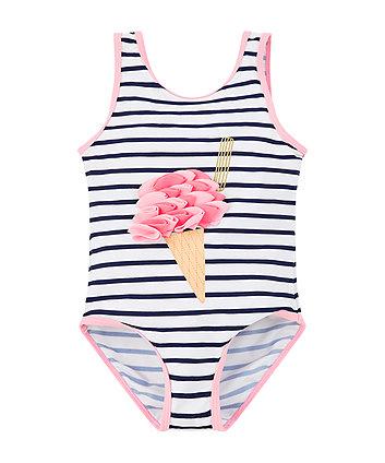 Stripe Ice Cream Swimsuit