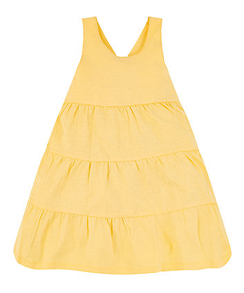 Mothercare Yellow Tiered Dress
