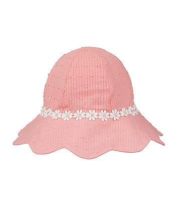 Mothercare Pink Dobby Sun Hat