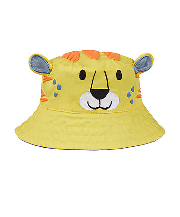 Mothercare Yellow Tiger Fisherman Sun Hat
