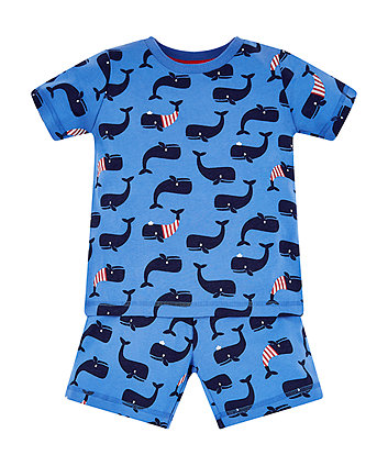 Blue Whale Shortie Pyjamas