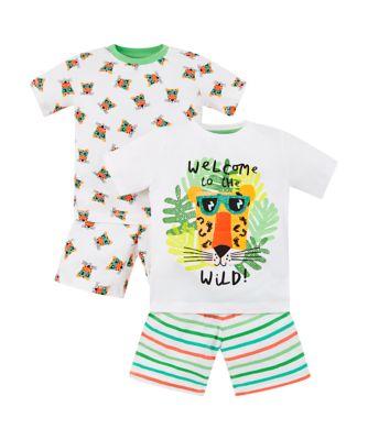 Mothercare Jungle Tiger Shortie Pyjamas - 2 Pack