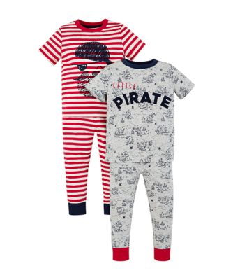 Mothercare Pirate And Treasure Map Pyjamas - 2 Pack