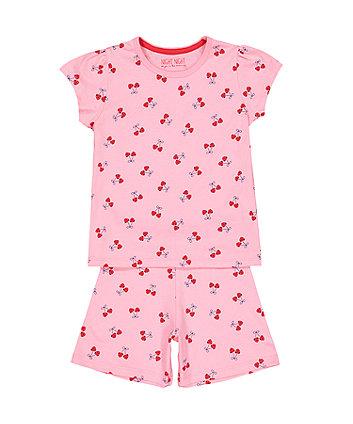 Cherry Pink Shortie Pyjamas