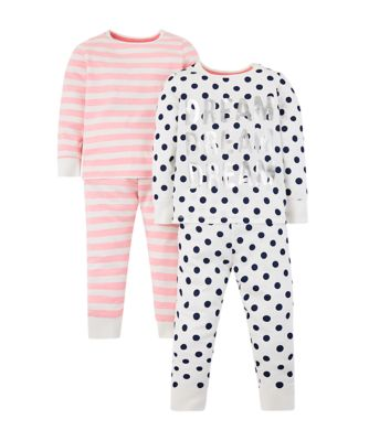 Mothercare Dream And Stripe Pyjamas � 2 Pack
