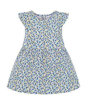 Mothercare Blue Ditsy Dress