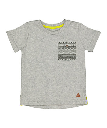Mothercare Grey Print T-Shirt