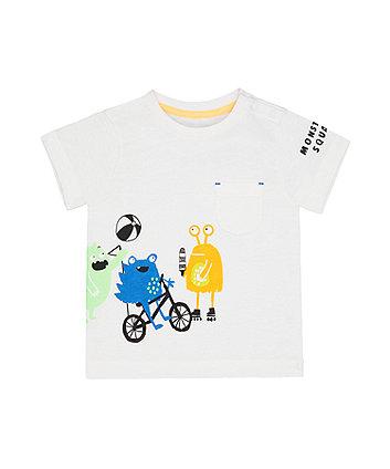 Mothercare White Monster Squad T-Shirt