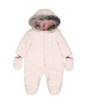 Mothercare My First Little Mouse Pink Quilted Snowsuit