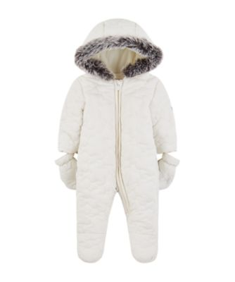 Mothercare My First Little Zoo Quilted Snowsuit