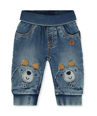 Mothercare Indigo Denim Bear Joggers