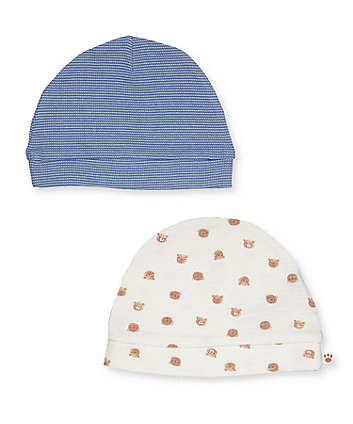 Mothercare Teddy Bear Hats - 2 Pack