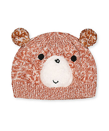 Mothercare Pom Pom Bear Knitted Hat