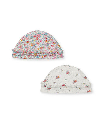Mothercare Floral Hats - 2 Pack