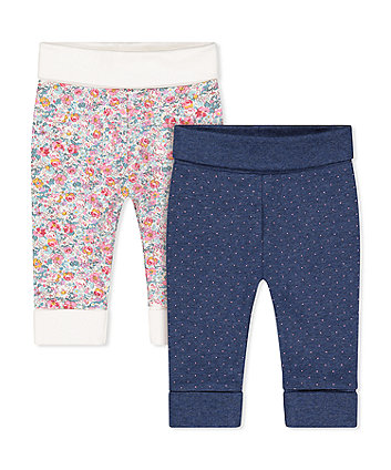 Mothercare Floral Joggers - 2 Pack