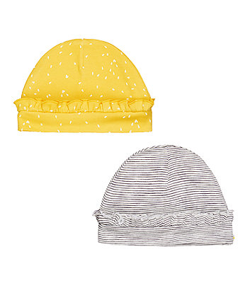 Mothercare Frilled Hats - 2 Pack
