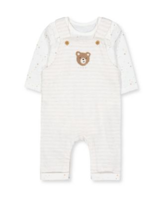 Mothercare My First Unisex Boucle Teddy Dungaree Set