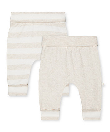 Mothercare My First Striped Joggers - 2 Pack
