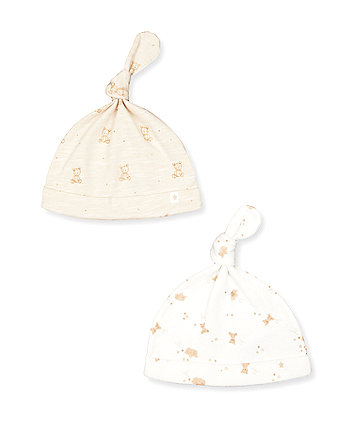 Mothercare My First Teddy Bear Hat - 2 Pack