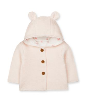 Mothercare My First Little Bunny Pink Knitted Cardigan