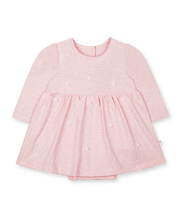Mothercare My First Pink Pom Pom Romper Dress