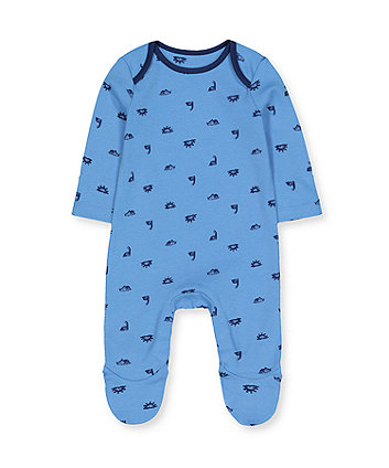 Mothercare Blue Dinosaur All In One