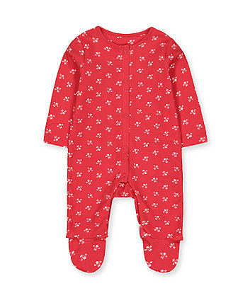 Mothercare Red Floral All In One