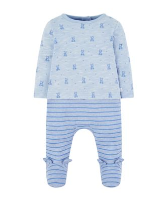 Mothercare My First Blue Bear Mock All In One