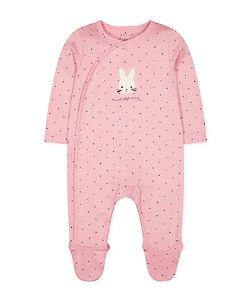 Mothercare Pink Bunny Spot All In One
