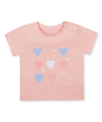 Mothercare Prairie Flower Pink Hearts Bunny Short Sleeve T-Shirt
