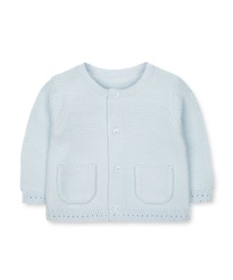 Mothercare My First Little Blue Bear Knitted Cardigan