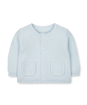 Mothercare My First Blue Knitted Cardigan