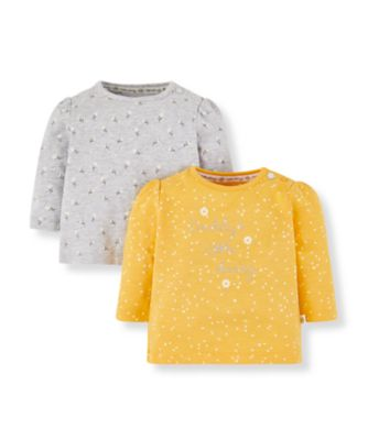 Mothercare Daisy Yellow Daisy Tops - 2 Pack