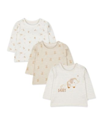 Mothercare My First Little Zoo Daddy Tops - 3 Pack