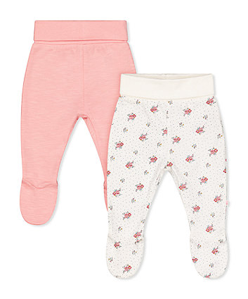 Mothercare Floral Leggings - 2 Pack