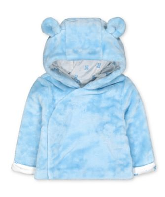 Mothercare My First Fluffy Blue Bear Jacket