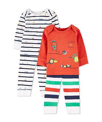 Mothercare Little Bugs Pyjamas - 2 Pack