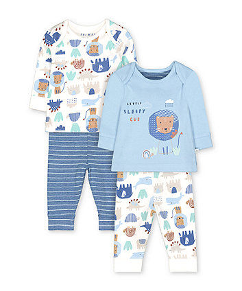 Mothercare Blue Animal Friends Pyjamas - 2 Pack