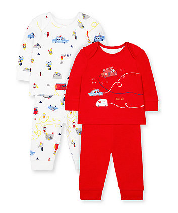Mothercare Rescue Animal Friends Pyjamas - 2 Pack